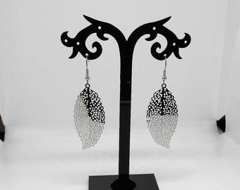 Leaves earrings made of stainless steel