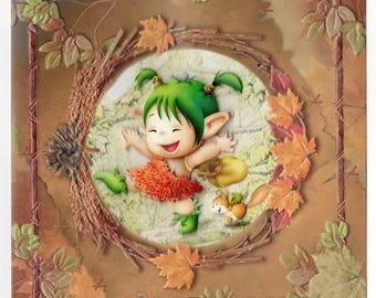 3D toread autumn card 2