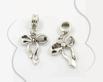 A Pearl dangles Ribbon, silver, 30 mm, hole 5 mm