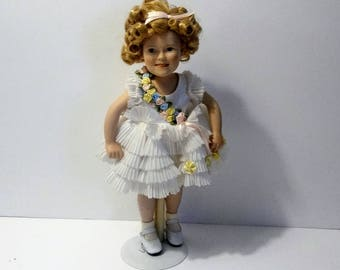 """Shirley Temple Doll Danbury Mint 10"""" Baby Take A Bow From Movie Classics"""