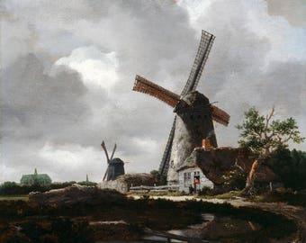 Vintage Landscape (1652), Landscape print, Print on canvas, Fine Art Print, Wall Décor, Home décor, Office décor, Large Print, Gift