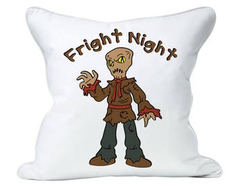 Fright Night Scarecrow SVG File - Scary Halloween file, T-shirt, pillow home decor, gift for him, coffee cup, tall glass,