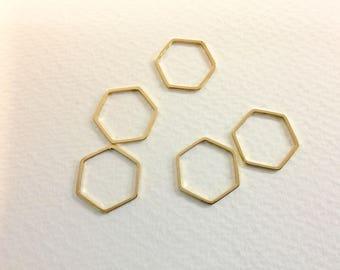 20 spacer hexagons 18mm Golden jewellery designs