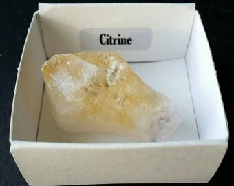 Raw citrine piece from the Brazil