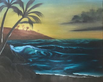 Tropical Sunrise Oil Painting