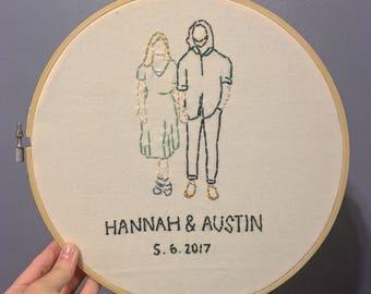 Portrait Embroidery Hoop