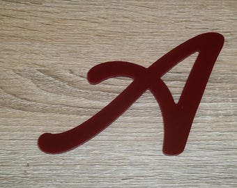 Model letter sign PLEXI LOMBRIZ; all letters available