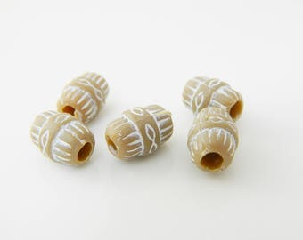 5 x 11mm Brown (l276) tube beads