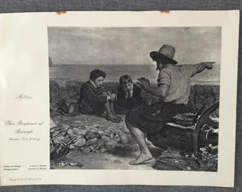 The boyhood of Raleigh. 1920's antique print