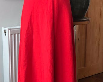 Red 'Chelsea Girl' midi skirt