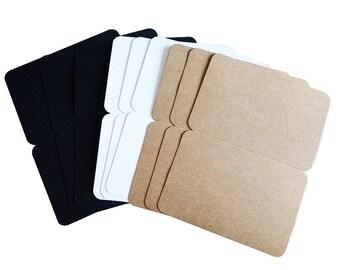 10 Pcs/lot Blank Postcards  Blank Kraft Paper  Card Greeting  Card Brown White Black Gift Card
