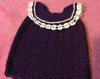 Sparkly crochet party dress.