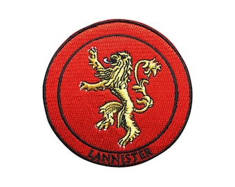 Game of Thrones Patch Lannister Patch Lion Iron on Patch Sew On Patches back patch