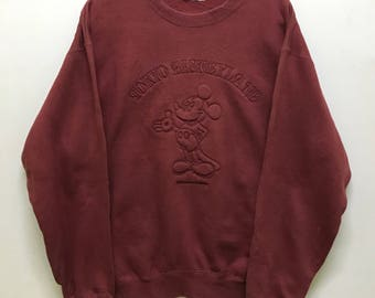 Deadstock!!! Tokyo Disneyland Sweatshirt Pullover Spellout Embroidered Mickey Mouse