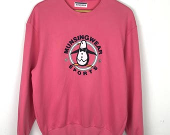 Rare!!! Grand Slam Munsingwear Pullover Spellout Big Logo Embroidery Jumper