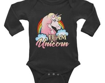 Team Unicorn Baby Onesie