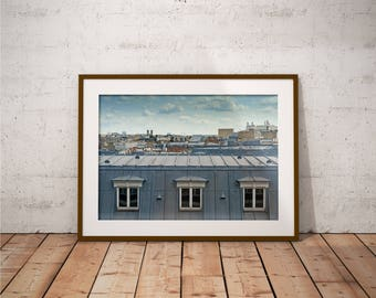 Metal Print - Roofs of Paris, Cityscape Photography - Metalic Aluminum Print, Fine Art, Wall Art, Nature Print, Home Decor, Photography