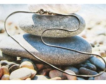 Light silver metal snake chain