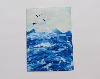 NorthSea: Encaustic Art Painting