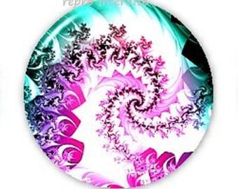 18mm, green and Purple Swirl