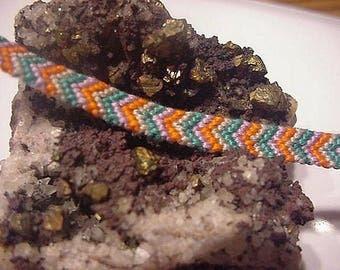 Handmade chevron pattern woven adjustable friendship bracelet. Free shipping.