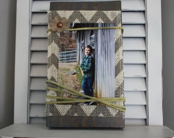 Wood Block Picture Holders/Frames