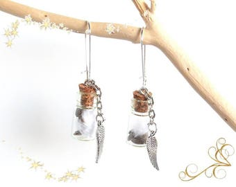 """""""seeds of lavender"""" earrings feathers and lavender"""