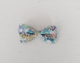 Barrette large bow tie Liberty Michelle Lilac