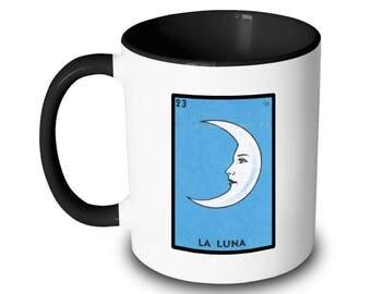 La Luna Mug Moon Loteria Card Mexican Bingo