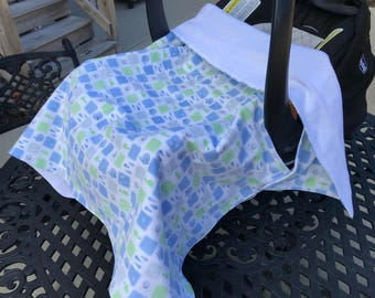 Whale Print Carseat Blanket