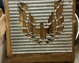 Transam logo cutout rustic decor
