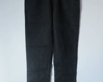 1894: black linen pants 8 Monoprix ebondy