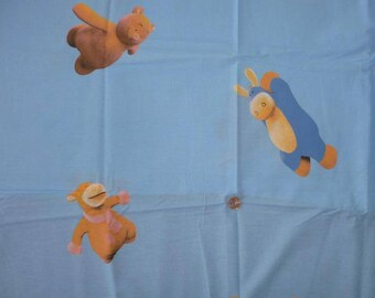 "Cotton fabric child's theme ""NOUKY and his friends"""