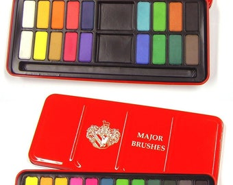 Set 24 Colour WaterColour Painting Artist Tablets Top High Quality