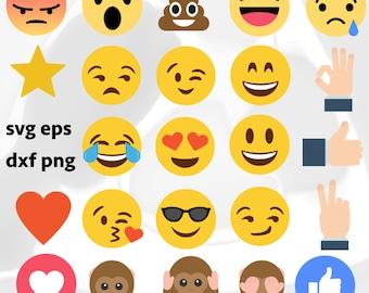 Emoji vector - Clip Art - svg, png, eps, dxf, messenger, facebook reaction emoji
