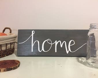 Painted Wood Sign (home)