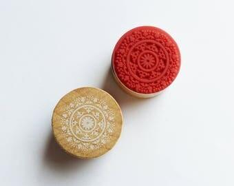 wood circle stamp holder 3 cm * 1 pattern