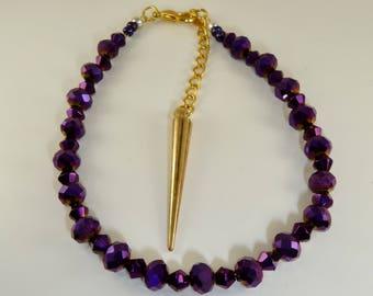 Purple adult size bracelet