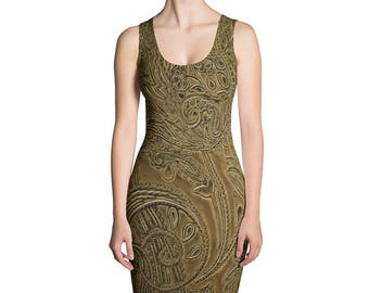 Paisley Gold Dress