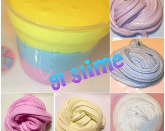 Thick Glossy Slime colorful 4 oz Scented