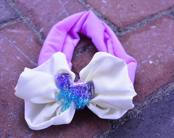 Unicorn Bow Headband - Large Bow Unicorn Headband