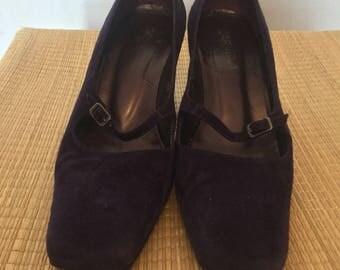 Vintage purple suede Carvela shoes.