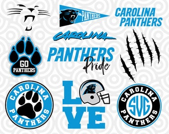 CAROLINA PANTHERS SVG Set, Carolina Panthers Digital Download Files, Football Logos, Die Cut Files in dxf, png, jpg, eps, pdf, S-09