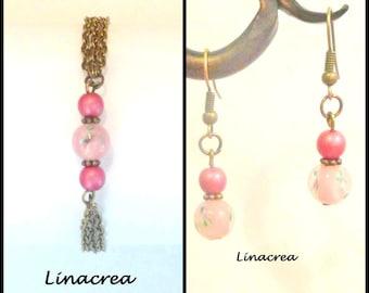 Romantic Rose Tendre Bracelet and earrings set