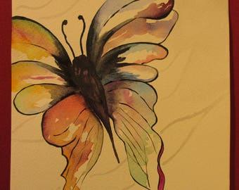 papillon aquarelle etsy. Black Bedroom Furniture Sets. Home Design Ideas