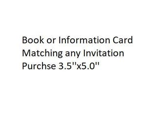Book or Information Card