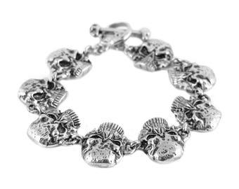 Jawless Skull Gents Bracelet Stainless Steel Skull Jewelry
