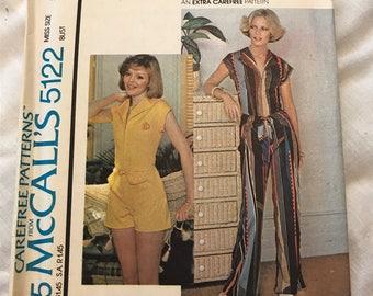 Jumpsuit Sewing Pattern McCalls #5122, 1976 UNCUT