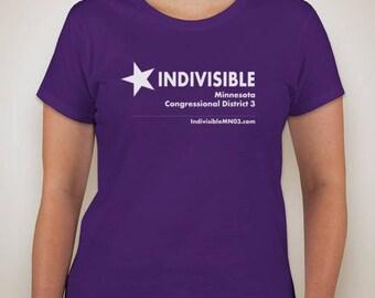 Women's purple IndivisibleMN03 tee