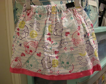 Handmade Shopkins Single Layer skirt Size US 3T with Pink Ribbon Detail